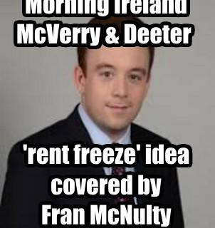 Morning Ireland - rent freeze idea