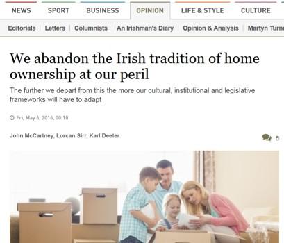 2016-05 Irish Times OpEd