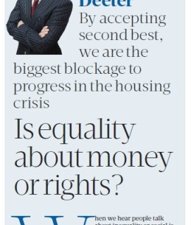 2016-05 Sunday BizPost equality about rights or money