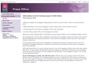 AIB lending 2bn in 2013